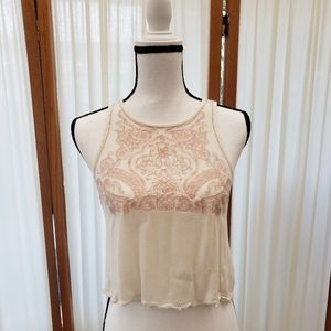 Forever 21 Embroidered Lace Crop Top